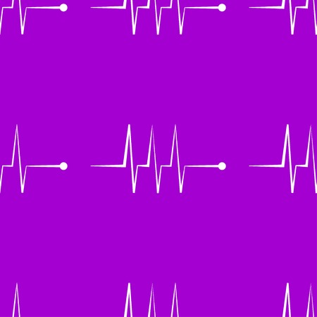 infarct: heart rhythm web icon.  flat design. Seamless gray pattern. Vector EPS10