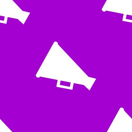 loudhailer: Megaphone, Loud-hailer web icon flat design. Seamless gray pattern. Vector EPS10 Illustration