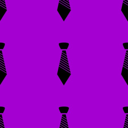 dresscode: Hipster tie web icon.  flat design. Seamless gray pattern. Vector EPS10