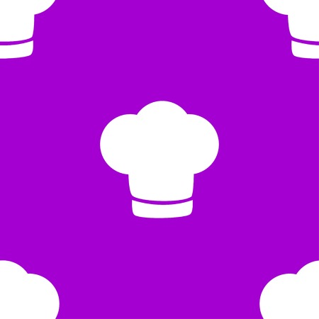 cook out: Chef cap web icon. flat design. Seamless gray pattern. Vector EPS10