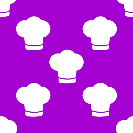 replaceable: Chef cap web icon. flat design. Seamless gray pattern. Vector EPS10
