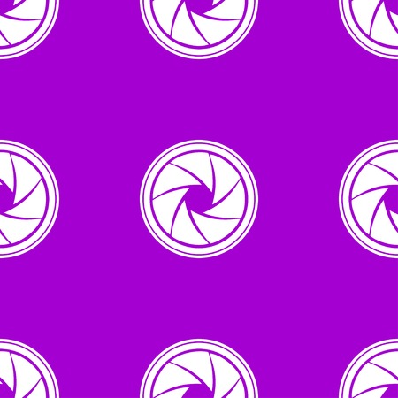 diaphragm: Photo camera diaphragm web icon. flat design. Seamless gray pattern. Vector EPS10 Illustration
