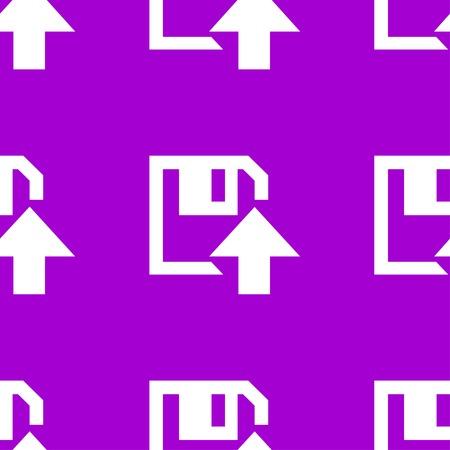 floppy disk upload web icon. flat design. Seamless pattern. Vector EPS10 Illustration