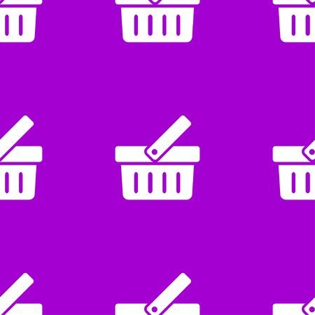 Shopping basket web icon. flat design. Seamless pattern. Vector EPS10