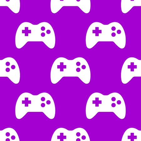Gaming Joystick web icon. flat design. Seamless pattern. Vector EPS10 Vector