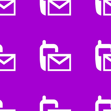 Sms web icon.  flat design. Seamless pattern. Vector EPS10
