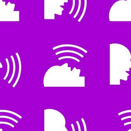 noisily: talking web icon. flat design. Seamless pattern. Vector EPS10