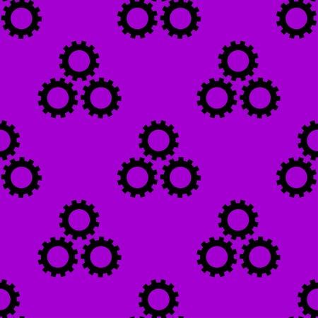 option key: Settings Sign web icon. flat design. Seamless gray pattern. Vector EPS10