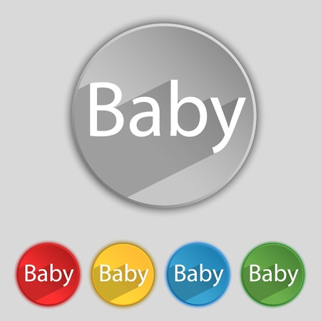 Baby On Board Sign Icon Infant In Car Caution Symbol Baby