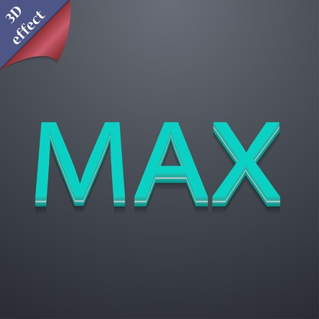 extremity: maximum icon symbol. 3D style. Trendy, modern design with space for your text Vector illustration