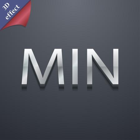 minimální: minimum symbol ikona. 3D styl. Trendy a moderní design s prostorem pro váš text Vektorové ilustrace