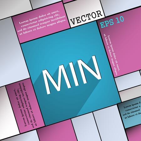 minimální: minimum symbol ikona Flat moderní web design s dlouhým stínem a prostor pro text. Vektorové ilustrace Ilustrace