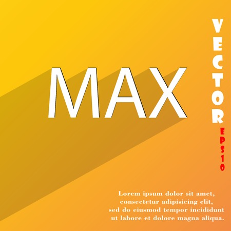 extremity: maximum icon symbol Flat modern web design with long shadow and space for your text. Vector illustration