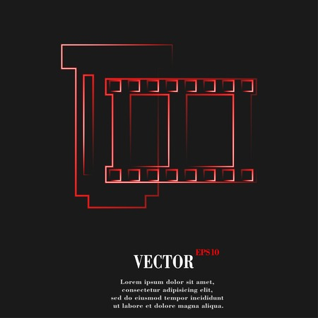 negative films icon symbol Flat modern web design with long shadow and space for your text. Vector illustration Illustration