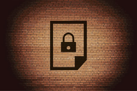 lockout: file locked icon symbol Flat modern web design with long shadow and space for your text. Vector illustration