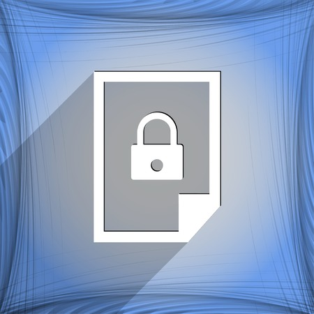 locked icon: file locked icon symbol Flat modern web design with long shadow and space for your text. Vector illustration