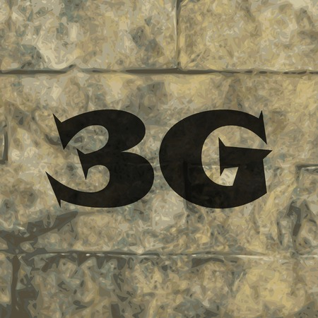 3g: 3G icono s�mbolo Dise�o plano web moderno con una larga sombra y el espacio para el texto. Ilustraci�n vectorial Vectores