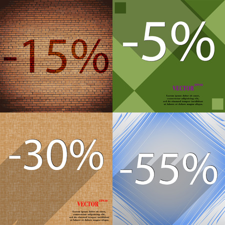 discount store: Set of abstract backgrounds and interest discount store. Vector illustration