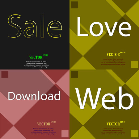 most: Set of the most popular web design icons on abstract background. Vector illustration