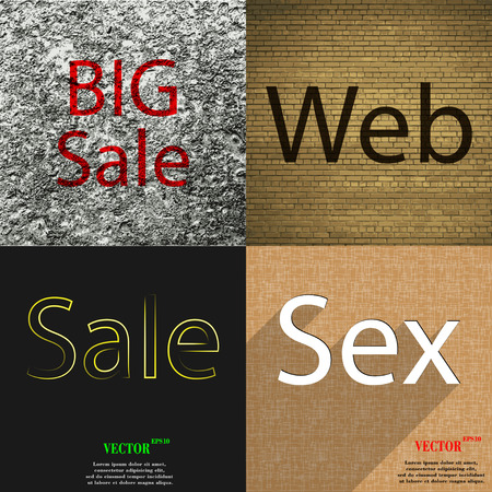 preservative: Set of the most popular web design icons on abstract background. Vector illustration