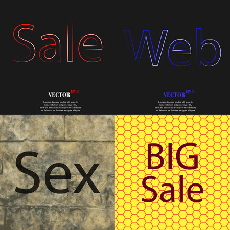 most popular: Set of the most popular web design icons on abstract background. Vector illustration