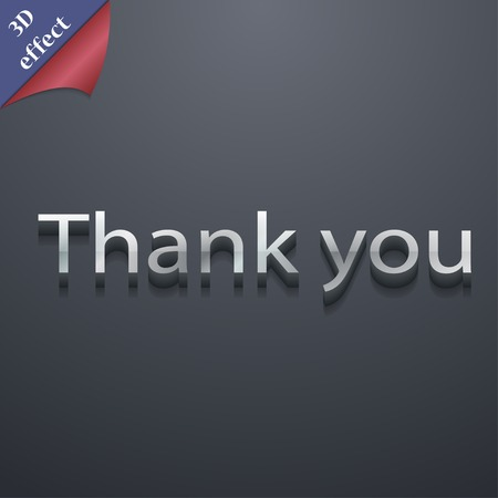 politeness: Thank you icon symbol. 3D style. Trendy, modern design with space for your text Vector illustration