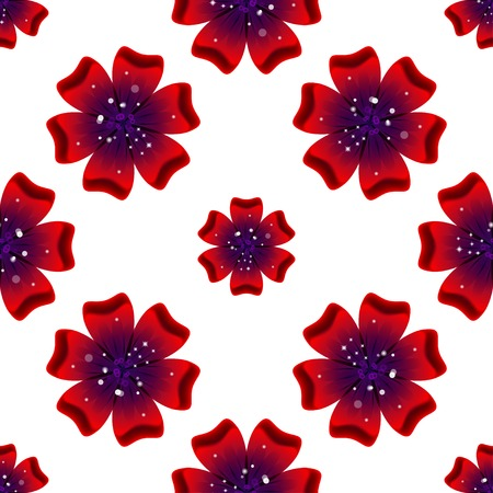 rad: Beautiful rad flower. Seamless floral pattern. Vector illustration