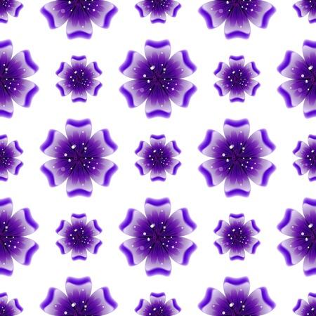 violet flower: Beautiful violet flower. Seamless floral pattern. Vector illustration