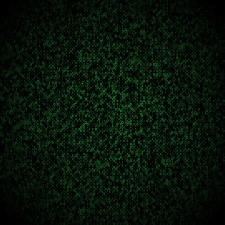encoded: Matrix background with the green symbols, motion blur.  illustration