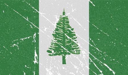 kingston: Flag of Norfolk Island with old texture. Vector illustration Illustration