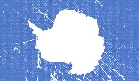 antartide: Bandiera di Antartide con vecchia struttura. Illustrazione vettoriale Vettoriali
