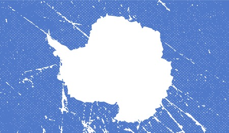 antarctica: Flag of Antarctica with old texture. Vector illustration