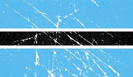botswana: Flag of Botswana with old texture. Vector illustration