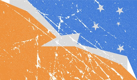 terra: Flag of  with old texture. Vector illustration Illustration