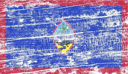 guam: Flag of Guam with old texture. Vector illustration