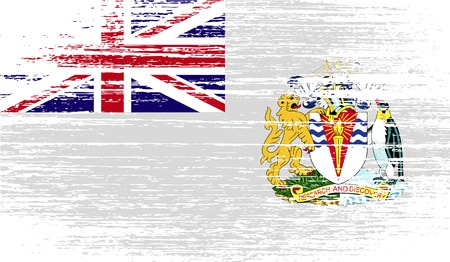 antarctic: Flag of British Antarctic Territory with old texture. Vector illustration Illustration