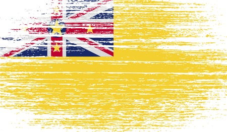 niue: Flag of Niue with old texture. Vector illustration