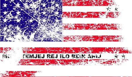 dependency: Flag of Bikini Atoll with old texture. Vector illustration