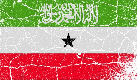 somaliland: Flag of Somaliland with old texture. Vector illustration