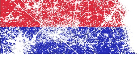 republika: Flag of  with old texture. Vector illustration Illustration