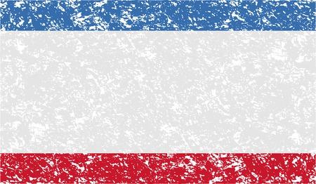 crimea: Flag of Crimea with old texture. Vector illustration