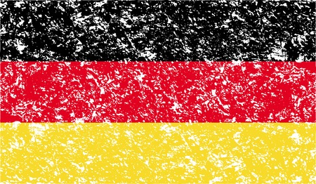 deutsch: Flag of Germany with old texture. Vector illustration