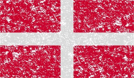 malta: Vlag van de Militaire Orde van Malta met oude textuur. Vector illustratie