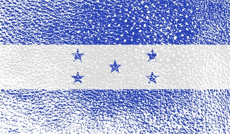 spangled: Flag of Honduras with old texture. Vector illustration Illustration