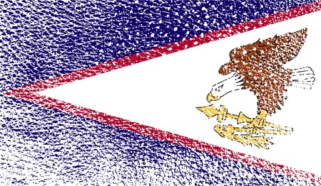 Flag of American Samoa with old texture. Vector illustration Illustration