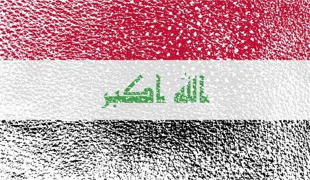 taliban: Flag of Iraq with old texture. Vector illustration Illustration