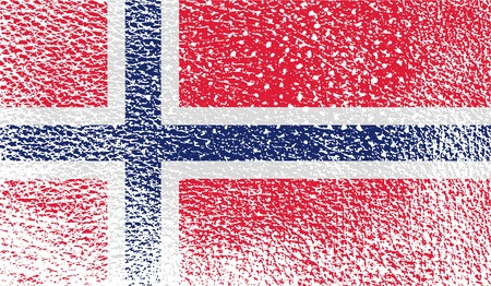 proportional: Flag of Norway with old texture. Vector illustration
