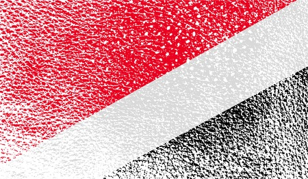 sealand: Flag of The Principality Sealand with old texture. Vector illustration