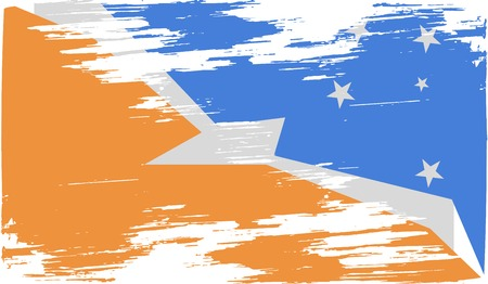 mew: Flag of  with old texture. Vector illustration Illustration