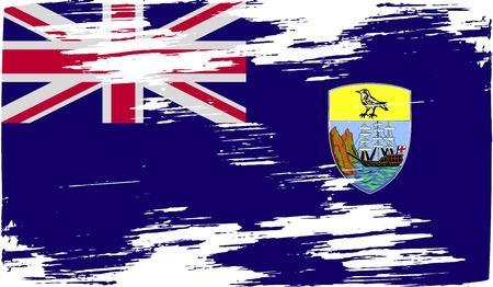 retrospective: Flag of Saint Helena with old texture. Vector illustration